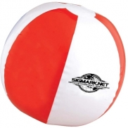 "12"" Red & White Beachball"