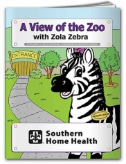 Coloring Book: A View of the Zoo