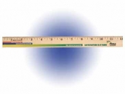 "12"" Clear Lacquer Wood Ruler, Full Color Digital"