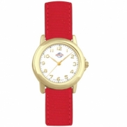 Chelsea - Women's gold-tone watch with grosgrain strap