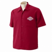 Harriton® Men's Barbados Textured Camp Shirt