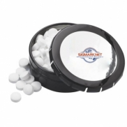 "2 1/8"" Large Round Push Tin with Mints"