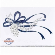 Blue Ribbon Holiday Card