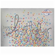 Colorful Confetti Birthday Card