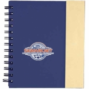 "6.5"" x 7"" Lock-it Spiral Notebook w/Pen"