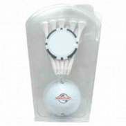 1 Ball 5 Tee Clam With Poker Chip Ball Marker