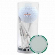 1 Ball 5 Tee Tube With Poker Chip Ball Marker