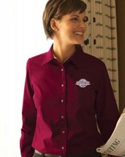 Easy Blend™ Long-Sleeve Twill Shirt with Stain-Release