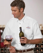 Easy Blend™ Short-Sleeve Twill Shirt with Stain-Release