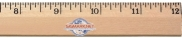 "12"" Clear Lacquer Beveled Wood Ruler - English Scale"
